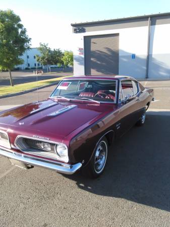 TRADE 1968 Barracuda fastback every rare and really clean amust see