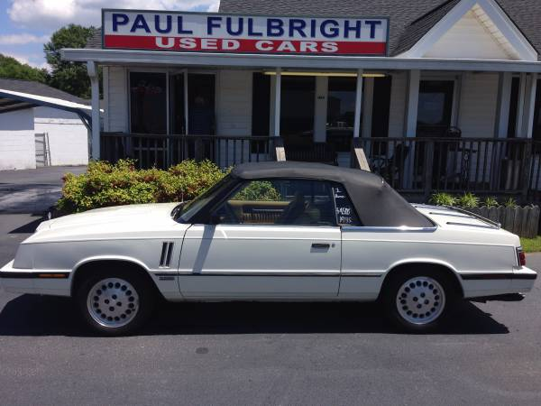 ► ►1985 Dodge 600 ES TURBO - White/Tan Leather - LOW...