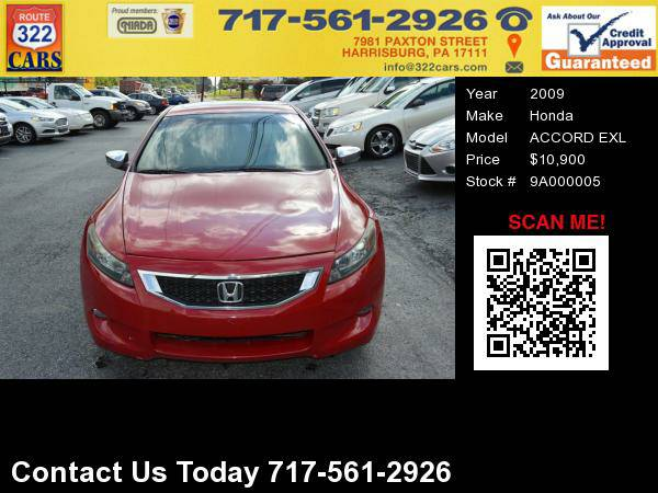2009 HONDA ACCORD - Two Door, Sporty, Bad Credit Approved!
