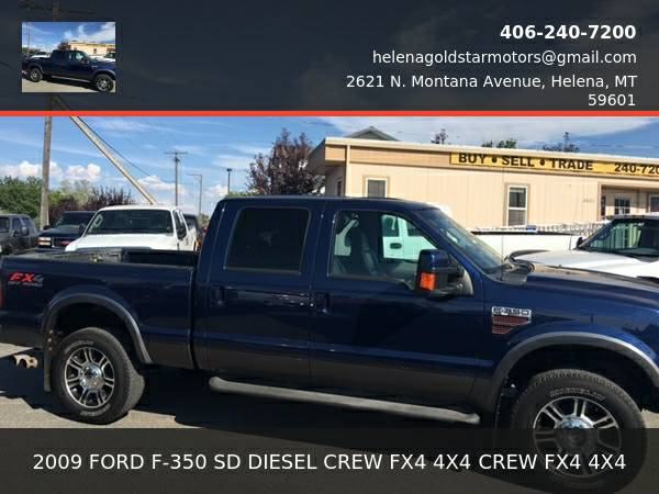 2009 FORD F-350 SD DIESEL CREW FX4 4X4- NICE TRUCK! 3.25% FINANCING...