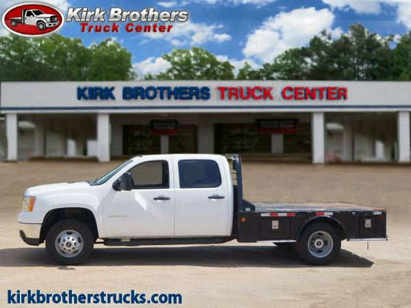 2011 GMC Sierra 3500HD CC Flatbed White Priced to SELL!!!