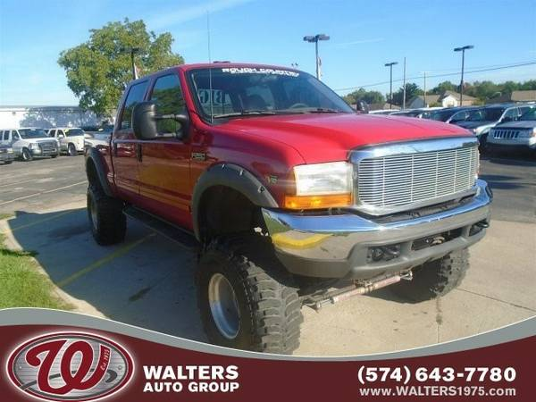 2001 Ford Super Duty F-250 Lariat CREW Cab Lifted BUY HERE PAY HERE...