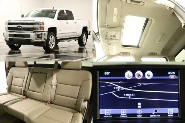 *SUNROOF - COOLED LEATHER*2015 Chevy*SILVERADO 2500 HD 4WD - GPS NAV*