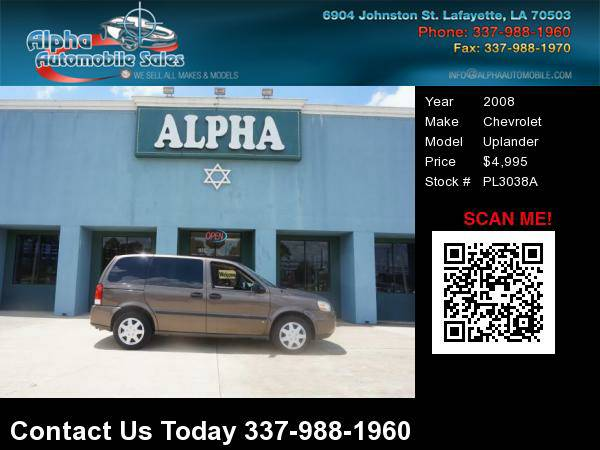 2008 Chevrolet Uplander Sports Van