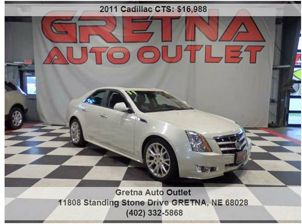 2011 Cadillac CTS**PEARL WHITE LOW MILES 76K 1 OWNER HEATED LEATHER!!!