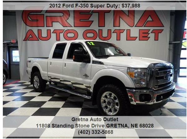 2012 Ford F-350*LARIAT CREW DIESEL 4X4 87K NAV ROOF HEATED COOLED SEAT