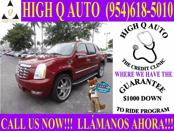 2007 CADILLAC ESCALADE EXT**GUARANTEE $1000 DOWN TO RIDE PROGRAM**