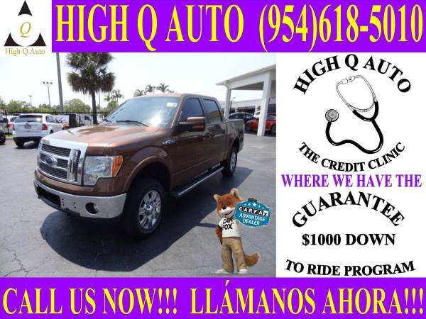 2012 FORD F-150 LARIAT**GUARANTEE $1000 DOWN TO RIDE PROGRAM**