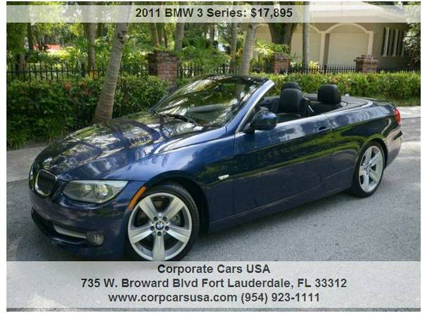 2011 BMW 328i Sport Pckg Convertible...1 OWNER CLEAN CARFAX...MUST SEE