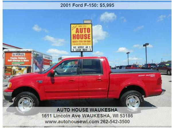 2001 Ford F-150 XLT 4dr SuperCrew 4WD loaded sharp