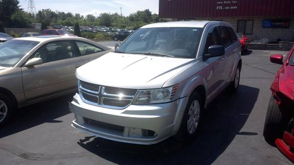 2014 DODGE JOURNEY 3RD ROW SEATING LIGHT HIT SALVAGE TITLE CLEAN