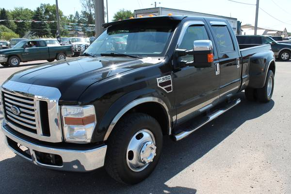 2008 FORD F350 CREW CAB DUALLY 6.4 POWERSTROKE DIESEL LARIAT 2WD CLEAN
