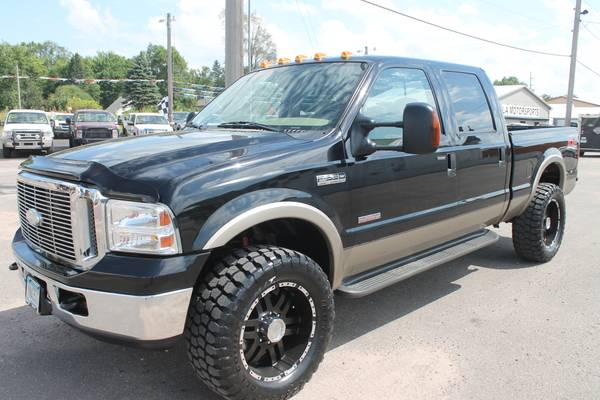 2005 FORD F350 SUPERDUTY CREW CAB 6.0 DIESEL 35S LARIAT LEATHER 4X4