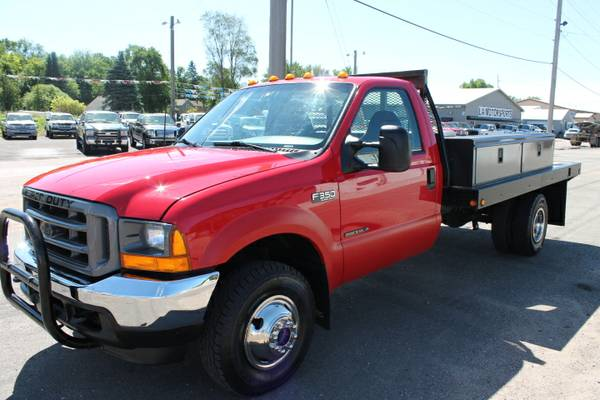 2001 FORD F350 REG CAB DUALLY FLAT BED 7.3 POWERSTROKE 4X4 145K CLEAN!
