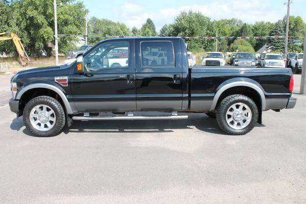 2008 FORD F250 CREW CAB SHORT BOX 6.4 DIESEL FX4 LEATHER ROOF 20S NICE