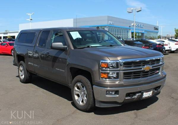 Certified: 2014 Chevrolet Silverado 1500 4D Double Cab low 15,800...
