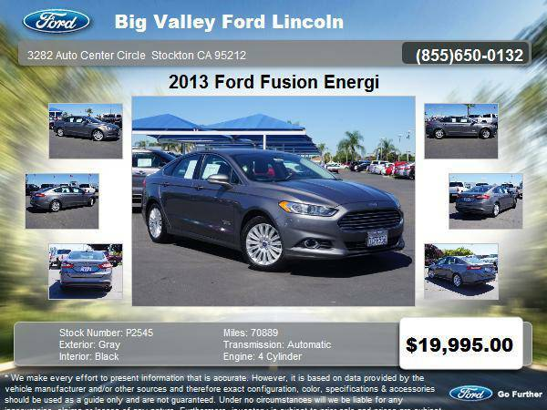 2013 Ford Fusion Energi SE 4dr Sedan SE LUXURY
