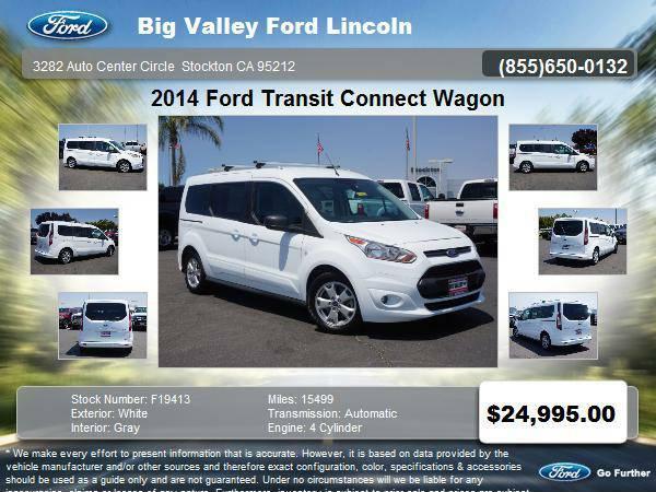 2014 Ford Transit Connect Wagon XLT 4dr LWB Mini-Van w/Rear Liftgate...