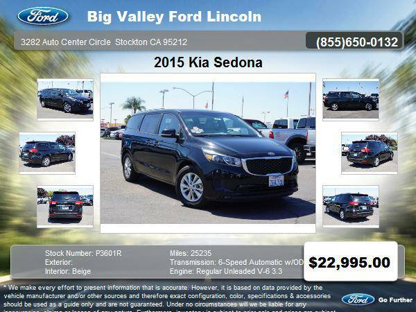 2015 Kia Sedona LX 4dr Mini-Van LX