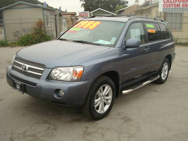 2006 TOYOTA HIGHLANDER HYBRID SUV THIRD SEAT GAS SAVER LOADED