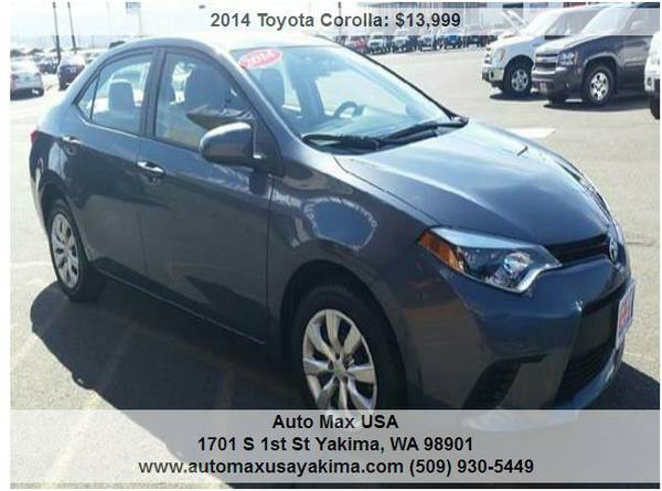 2014 Toyota Corolla HAVE 8 STARTING AT $13999