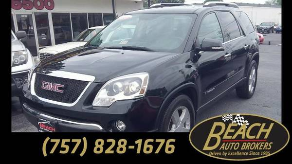 2008 GMC Acadia SLT2, CARFAX CERTIFIED, NAVIGATION, LEATHER, DVD, SUV