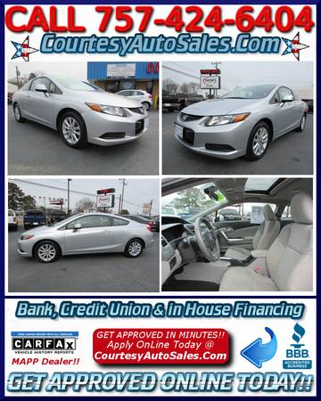 *2012 Honda CIVIC EX Coupe! *ONLY 44,982 Miles!! * PLATINUM-SILVER! *