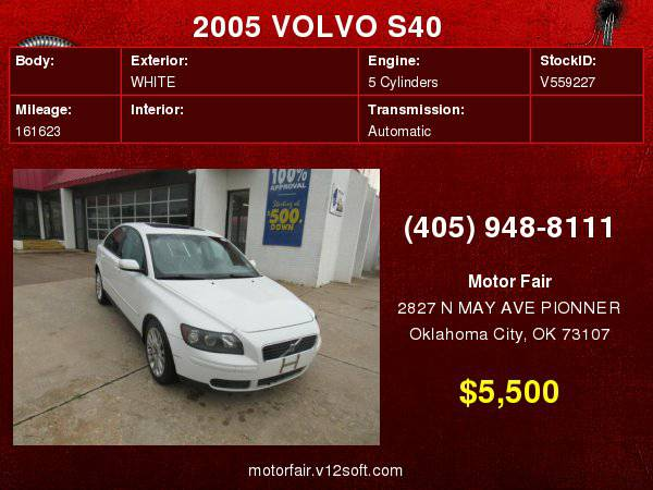 2005 VOLVO S40 2.4I **You Are Approved!**