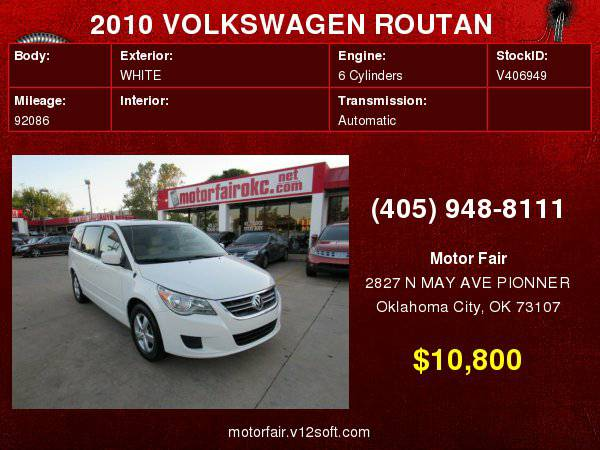 2010 VOLKSWAGEN ROUTAN SEL **You Are Approved!**
