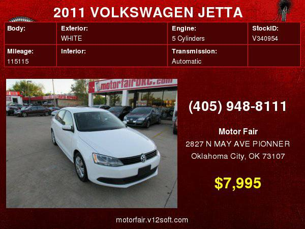 2011 VOLKSWAGEN JETTA SE **You Are Approved!**
