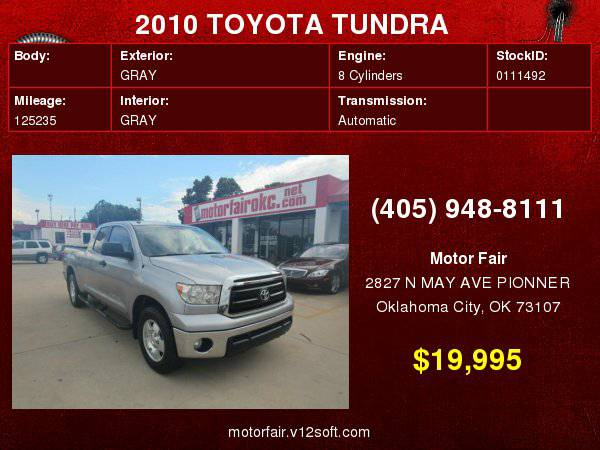 2010 TOYOTA TUNDRA DOUBLE CAB SR5 **You Are Approved!**