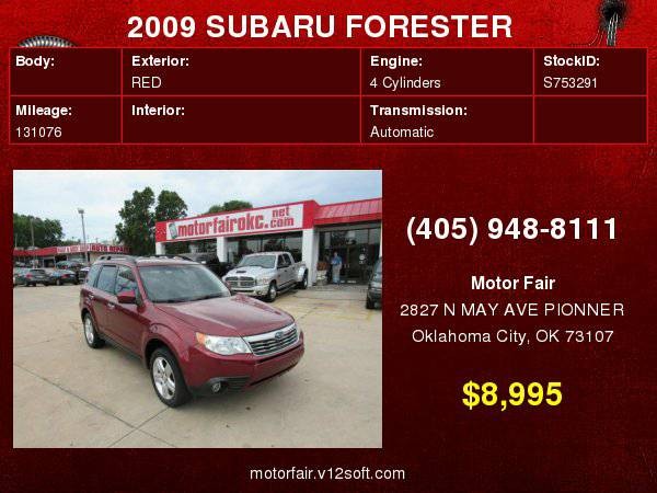 2009 SUBARU FORESTER 2.5X LIMITED **You Are Approved!**