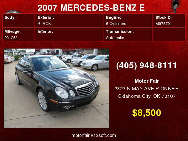 2007 MERCEDES-BENZ E 350 **You Are Approved!**