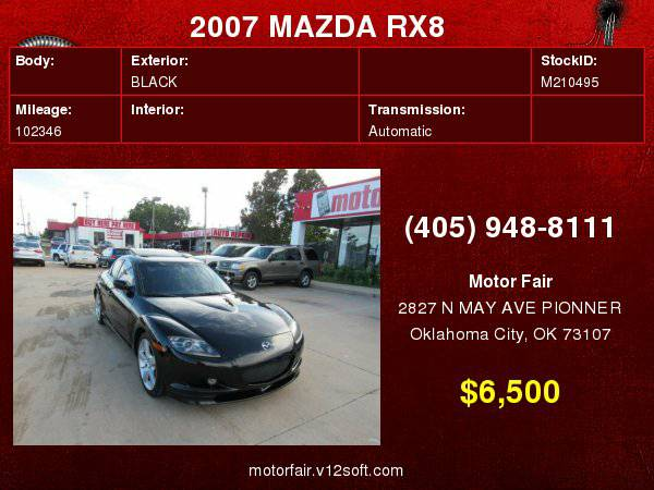 2007 MAZDA RX8 **You Are Approved!**