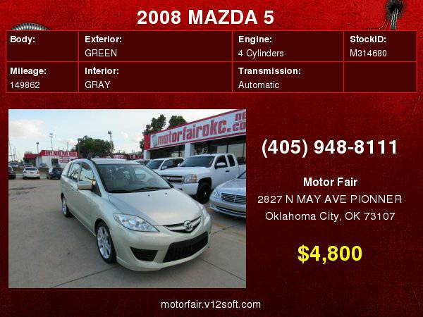 2008 MAZDA 5 MAZDA **You Are Approved!**