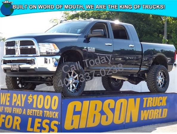USED 2016 RAM 2500 CUMMINS DIESEL 6 LIFTED MONSTER GIBSON FORD CHEVY...