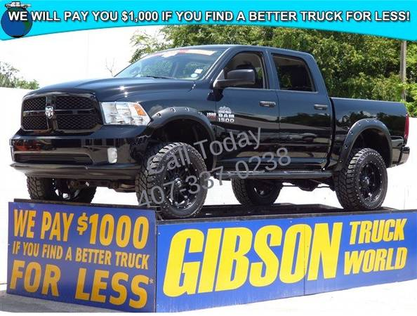 USED 2013 RAM 1500 HEMI 6 LIFTED MONSTER GIBSON FORD CHEVY DODGE...