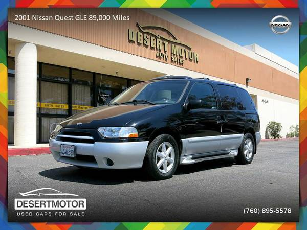 2001 Nissan Quest GLE Van 89,000 MILES CLEAN TITLE WITH ALL OPTIONS!