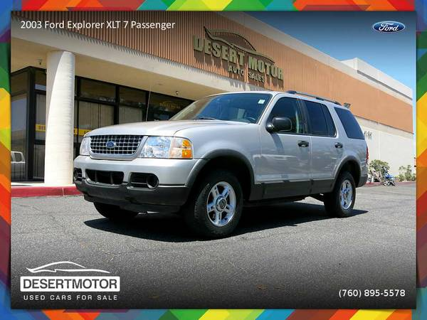 2003 Ford Explorer XLT 7 Passenger SUV is priced to SELL NOW!