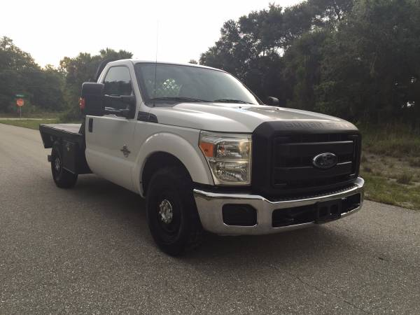 2012 Ford F250 F-250 Super Duty 4x2 Reg Cab SRW Flatbed Flat Bed 6.7L