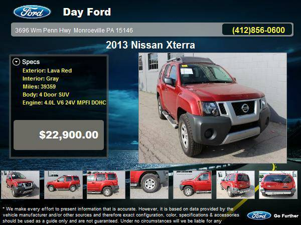Nissan Stock V6712A 2013 Xterra 4 Door SUV