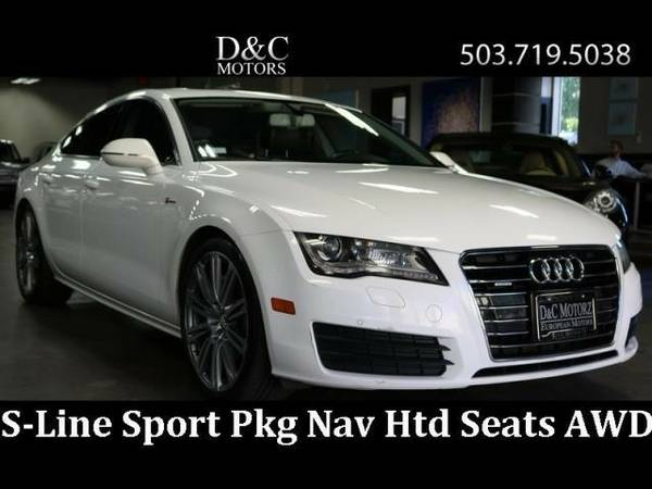 2012 *Audi* *A7* *3.0T Quattro Premium+ Nav Htd Seats Back Up* Sedan