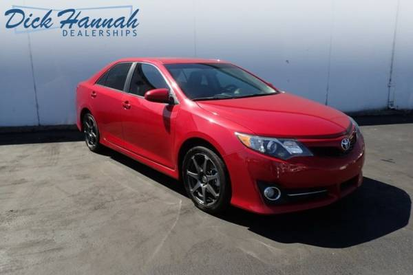 2012 *Toyota* *Camry* *SE* RED MoonRoof RearSpoiler 25/35 MPG Detailed