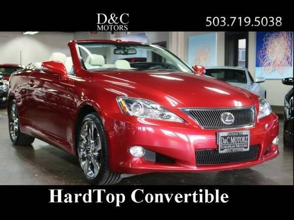 2010 *Lexus* *IS* *350C HardTop Convertible Htd Seats Nav 1-Owner*...