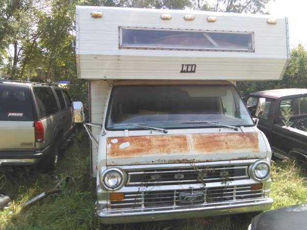 ford econoline camper as is