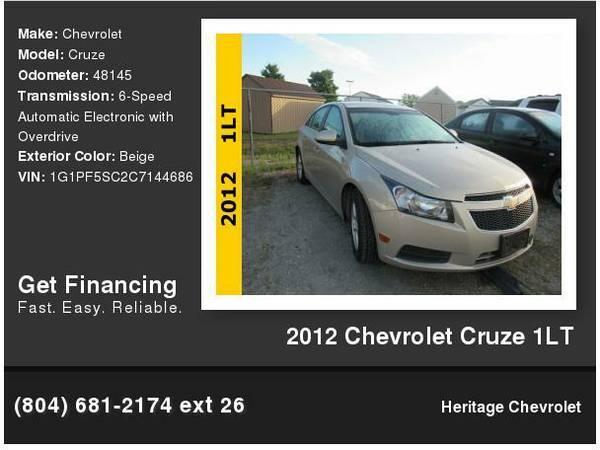 2012 Chevrolet Cruze 1LT Bank Financing- EZ Approval