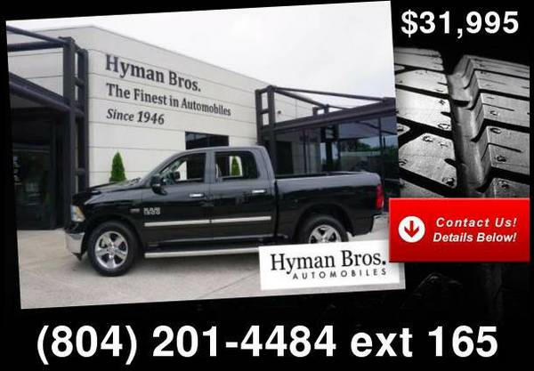 2014 Ram 1500 Big Horn 4x4 Nav, Chrome Wheels, 5.7L Hemi V8