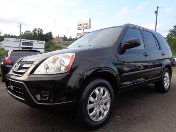 2005 Honda CR-V EX 4x4 Black On Black Very Nice SUV