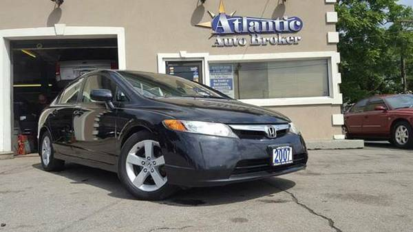 2007 HONDA CIVIC EX 4 DOOR, BLACK, AUTO, WE FINANCE!!