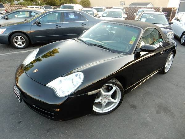 2004 PORSCHE 911 CARRERA CONVERTIBLE*BLACK ON BLACK*ONLY 76K MILES*